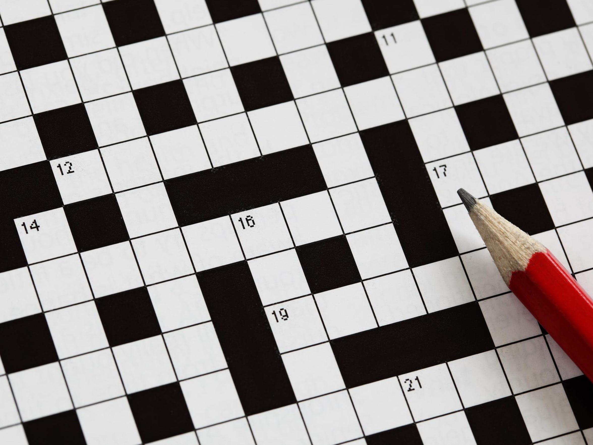 The huge crossword puzzle, which stretches over two full pages, will be in the Thanksgiving Day edition of the Caller-Times.