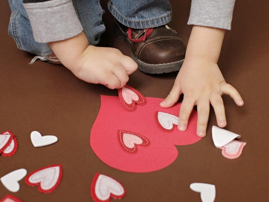 Valentine's Day Craft with Hearts