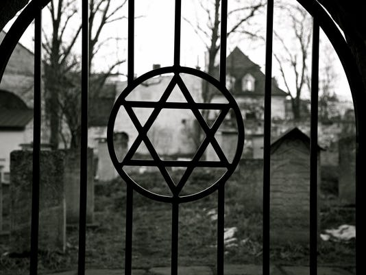Judaism. Jewish Star of David. Jude Cemetery.Ghetto. Holocaust. Auschwitz.