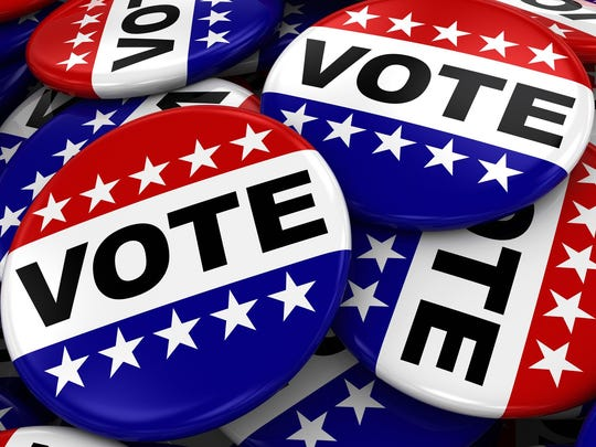 Pile of Vote Badges - US Elections Concept Image