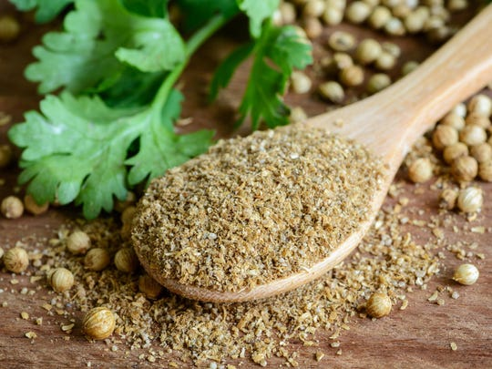 You can find ground coriander in the spice section of most stores.