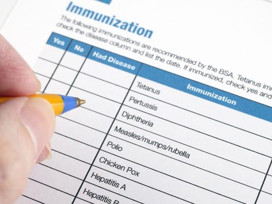 Immunization application form