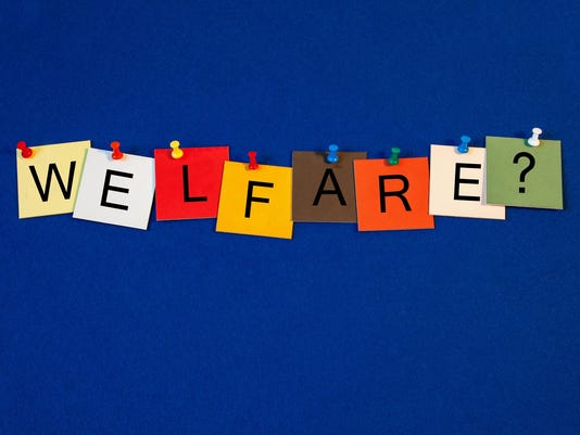 Welfare - sign for social care.