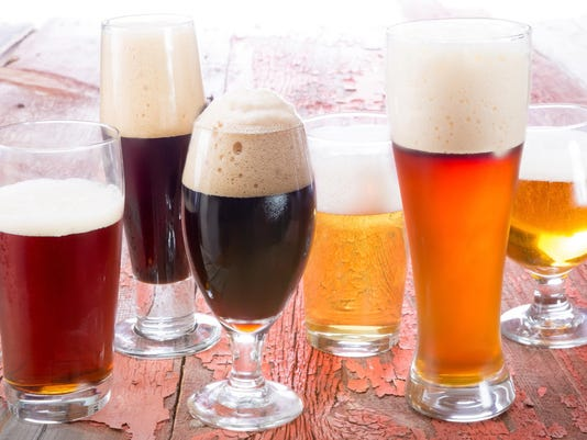 Variety of different beers