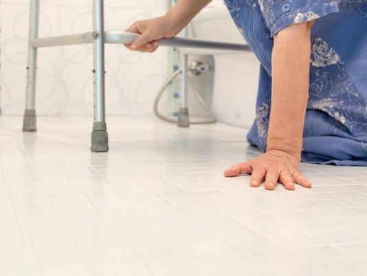 elderly falling in bathroom