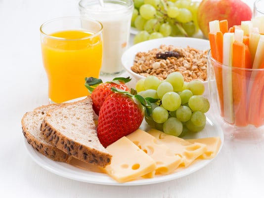 healthy and nutritious breakfast with fresh fruits, vegetable