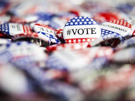 Election Vote Buttons - #VOTE