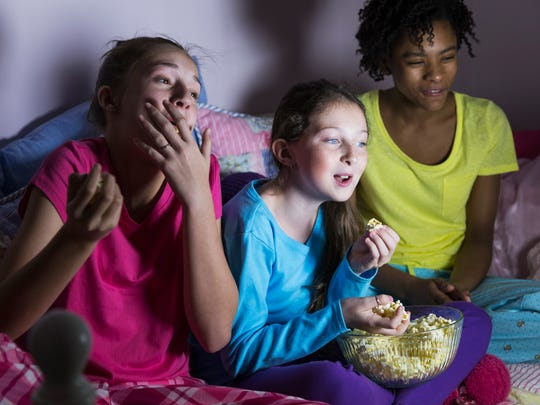 One sure thing at a sleepover with teenage girls? Talking, and a lot of it.