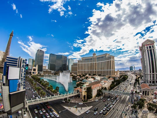 View of the Las Vegas Strip.