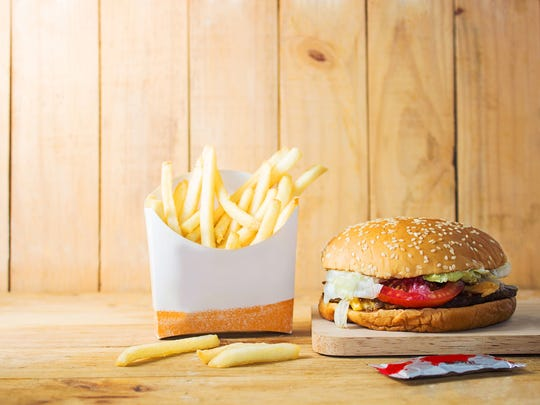 Fries and Burger Image.
