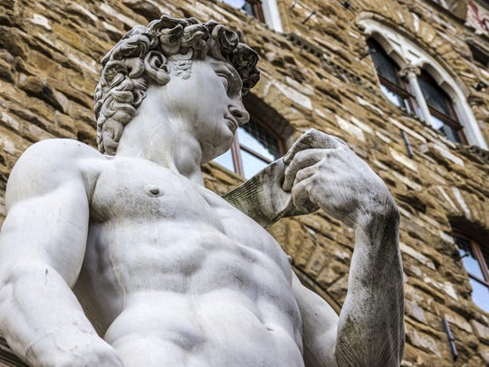 Michelangelo achieved success by focusing on his creative strengths, as his sculpture of David shows.