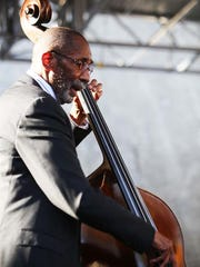 The  legendary Detroit-bred  bassist Ron Carter plays with artist-in-residence Pat Metheny during the  36th Annual Detroit Jazz Festival on Sunday, Sept. 6, 2015.