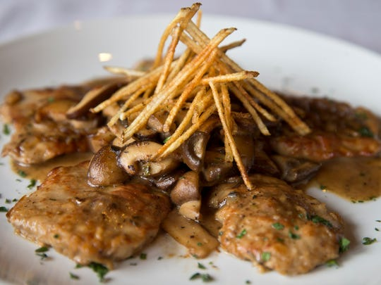 An entree of veal Napoleon at Brando's Citi Cucina in Asbury Park.