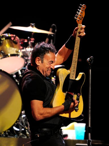 Bruce Springsteen and his E Street Band played to a packed Bridgestone Arena on April 17, 2014.