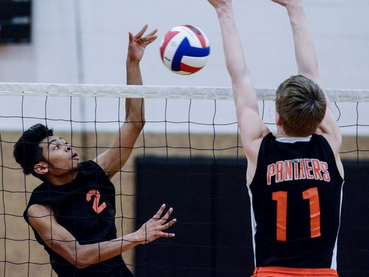 Central York vs York Suburban boys' volleyball, Tuesday,