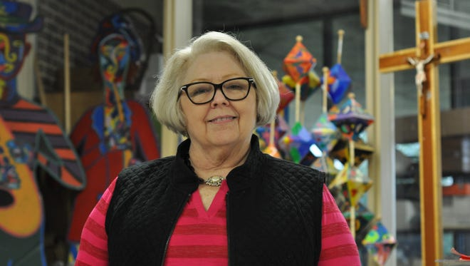 """Barbara Clover, a national award-winning art educator, will retire this year after 22 years teaching at Holy Savior Menard High School in Alexandria. On Thursday, Alexandria Mayor Jacques Roy presented her a special proclamation and declared April 20, 2016 as """"Barbara Clover Day."""""""