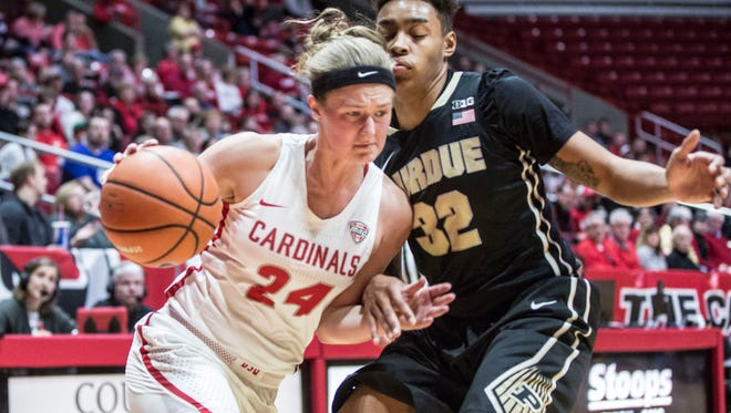 Purdue beat Ball State 77-72 on March 18 during the Women's National Invitational Tournament inside Worthen Arena. Purdue will advance to play IU later in the week.