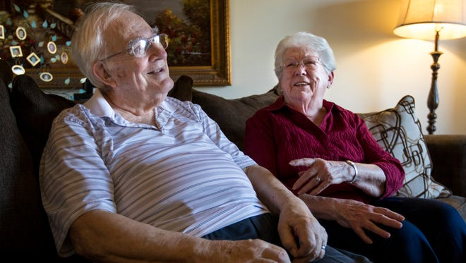 Ralph Wisniewskiand Grace Lesinski reminisce about the teenage crush they shared back in grade school. Their lives grew apart after that and they married different people. The two, now widowed, reunited recently when Ralph moved into the apartment building where Grace lives.