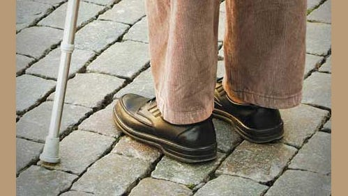 To help prevent falling, Dr. Noll recommends that older adults wear sturdy low-heeled shoes or sneakers, even when in the house.