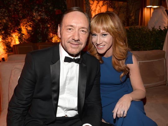 Actor Kevin Spacey and comedian Kathy Griffin attend the Weinstein Company & Netflix's 2014 SAG after-party in 2014 in West Hollywood, Calif.
