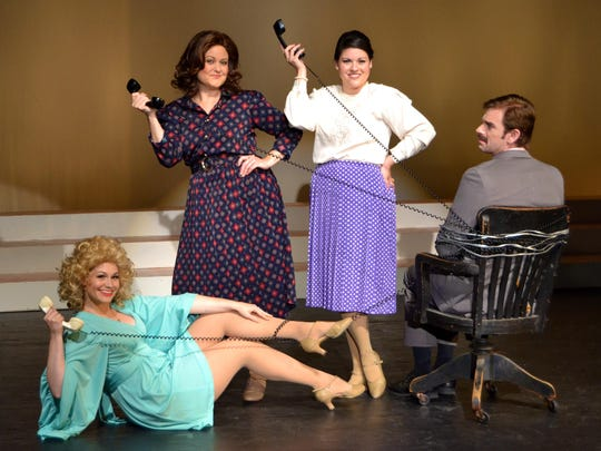 "Office secretaries took revenge on an obnoxious boss in Theatre Tallahassee's 2017-2018 season's ""9 to 5: The Musical."""