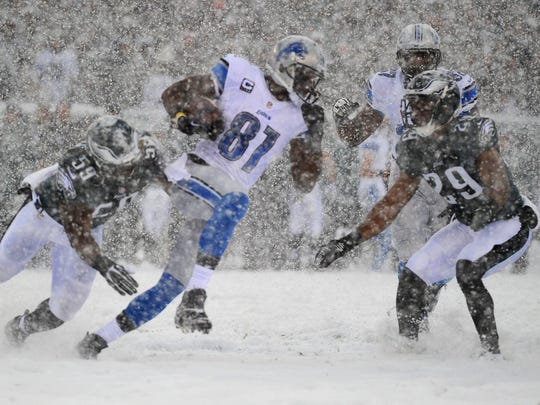 On this date: Lions vs. Eagles Snow Bowl 2013