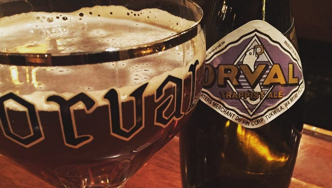 "Orval only exports one beer, simply named ""Orval Trappist Ale."" It's a singular beer and is hard to describe. Loosely speaking, it's a  bone-dry, bottle-conditioned Belgian pale ale with Brettanomyces. A truly unique experience, Orval is heralded as many a brewer's favorite ale."