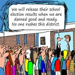 The Ithaca City School District did not release the results of Tuesday's voting until Wednesday night.