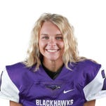 Bloomfield Hills football's Olivia Brack kicks it with best of the boys