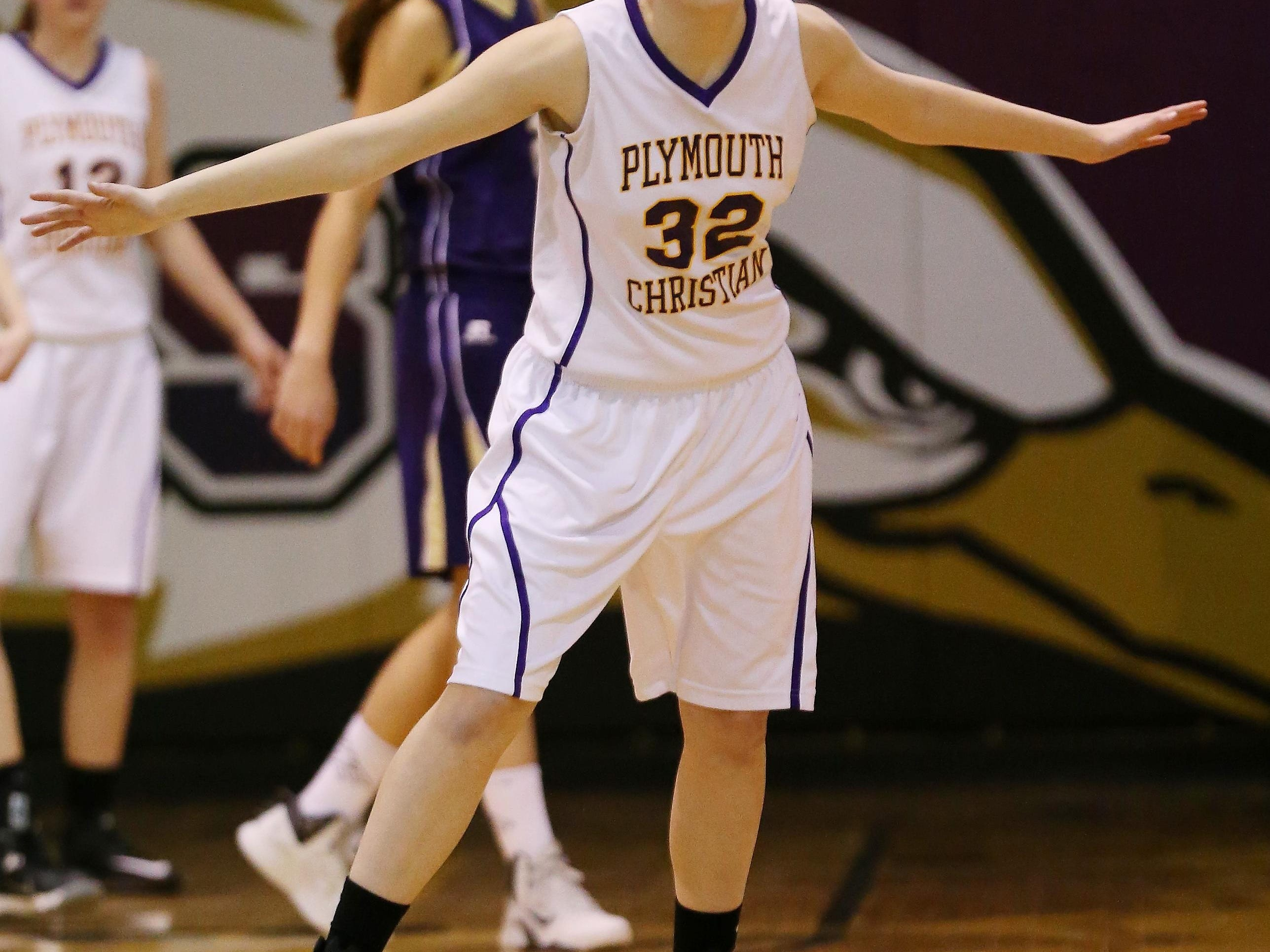Kennedy Horne of PCA's varsity girls basketball team competes during a 2014-15 contest. She is among several key returnees.