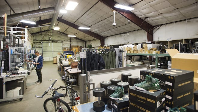 CSU Surplus Property is preparing for its annual tent sale on June 3 and 4. Donated items from students, including furniture and household items, are being collected from dorms during move out this week and will be processed for sale.