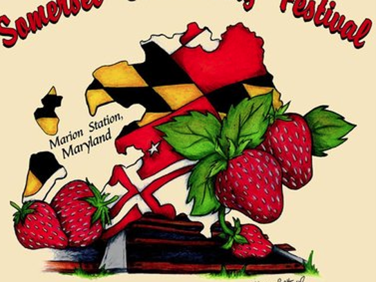 Logo for the Somerset County Strawberry Festival