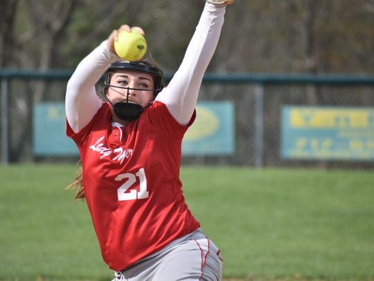 Fannett-Metal's Brooke Harris has pitched all but two