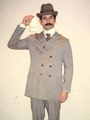 Peter Bedrossian is shown in costume as an extra on