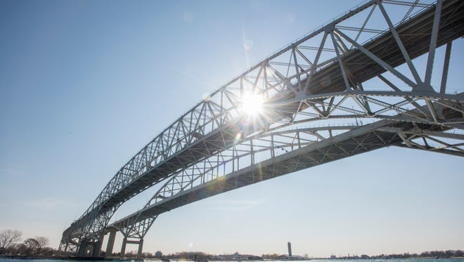 An accident in Ontario is causing a backup on the Blue Water Bridge
