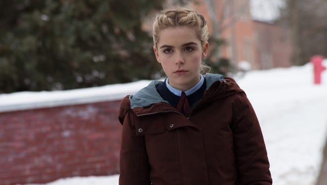 "Kat (Kiernan Shipka) is a Catholic-school student in ""The Blackcoat's Daughter."""