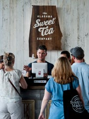 Wes Willis sells Alabama Sweet Tea at the Southern