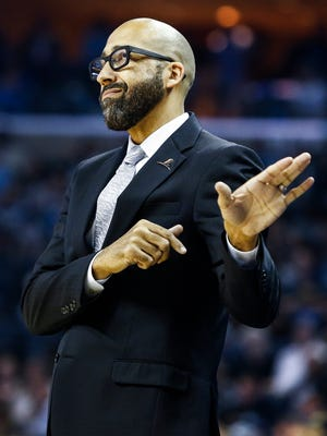 Memphis Grizzlies head coach David Fizdale during action against the New Orleans Pelicans at the FedExForum in Memphis, Tenn., Wednesday, October 18, 2017.