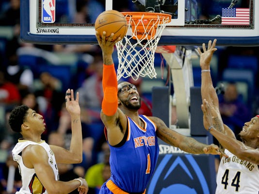 NBA: New York Knicks at New Orleans Pelicans