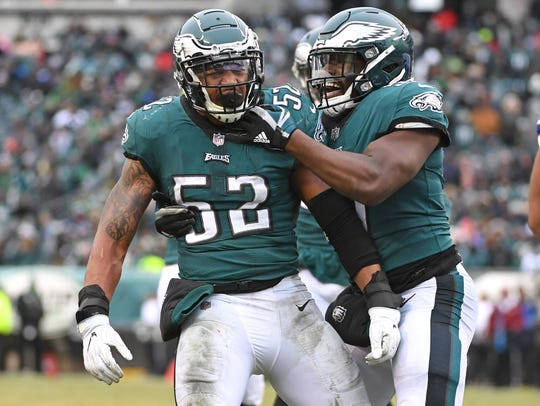 Ex-Eagles linebacker Najee Goode (52) figures to be