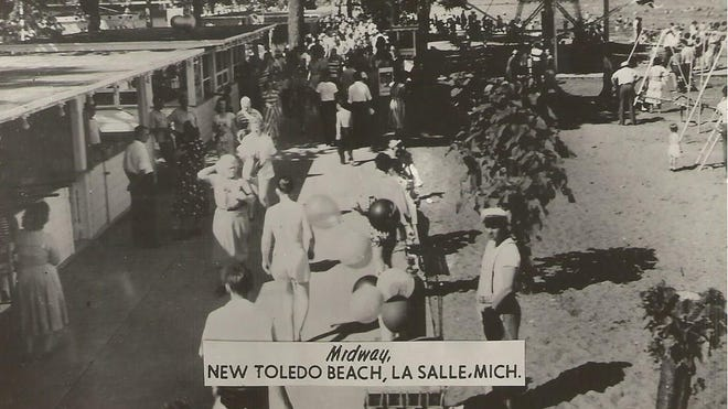 The Toledo Beach midway, circa 1950