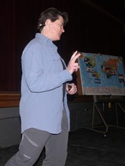 Jen Loeb makes a point during her 90-minute presentation