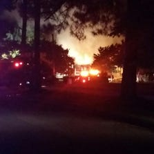 A fire Tuesday night engulfed a Sumter home.
