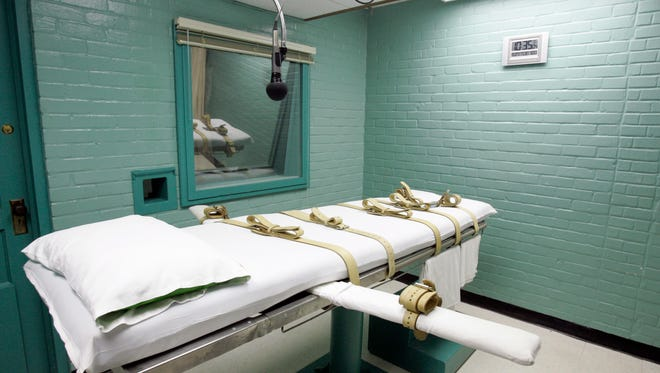 A 2008 phows the gurney in the death chamber in Huntsville, Texas.