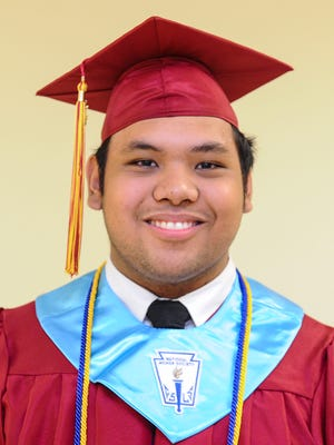 Father Duenas Memorial School Class of 2016 valedictorian, Juan San Nicolas.