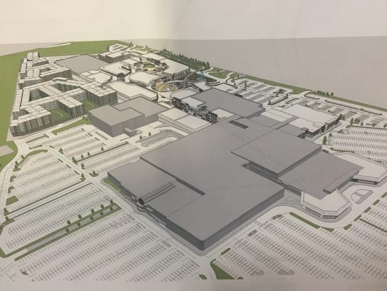 A photo of the site plan for the redesign of Monmouth