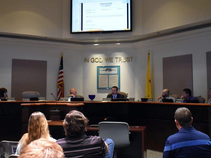 Mayor Pro-Tem Jason Baldwin speaks to his fellow commissioners