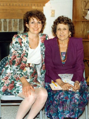 Joan Bentti (left) got many cherished recipes from her mother, Marion Schwabe. This photo was taken in 1993.