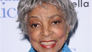 """In this Nov. 17, 2010 file photo, Ruby Dee attends a special screening of """"Frankie & Alice"""" in New York. Dee, an acclaimed actor and civil rights activist whose versatile career spanned stage, radio television and film, has died at age 91, according to her daughter. Nora Davis Day told The Associated Press on Thursday, June 12, 2014, that her mother died at home at New Rochelle, New York, on Wednesday night.  (AP Photo/Peter Kramer, file)"""