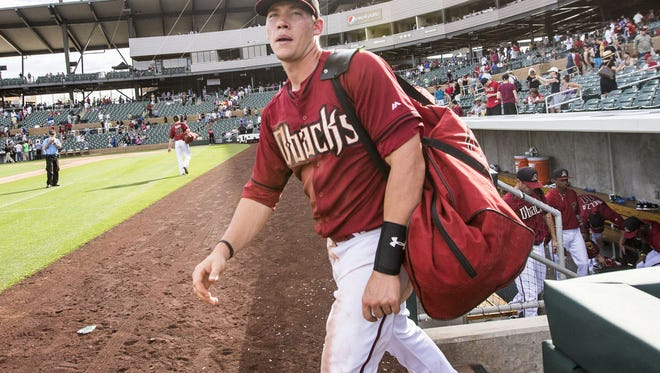 Peter O'Brien went 4 for 10 with a double and a homer in a brief cameo with the Diamondbacks last season.